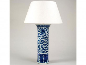 Vaughan Ceramic Blue & White Baluster Vase
