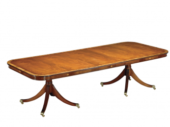 Titchmarsh & Goodwin Mahogany Extending Table With 2 Pedestals