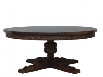 Titchmarsh & Goodwin English Oak Elizabethan Style Circular Table