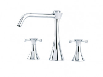 OASIS THREE HOLE SINK MIXER WITH CROSSHEAD HANDLES 4592