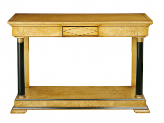 Titchmarsh & Goodwin Karelian Birch Console Table