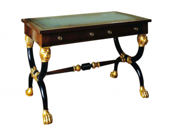 Titchmarsh & Goodwin Mahogany and Gilt Regency Writing Table